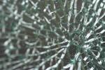 herdet glass knust